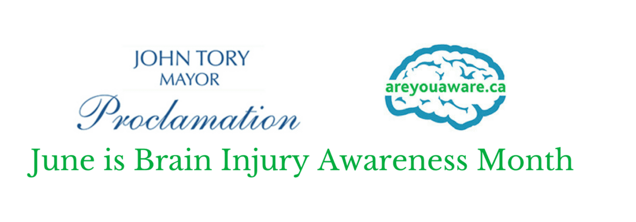 City of Toronto Proclamation for Brain Injury Awareness Month