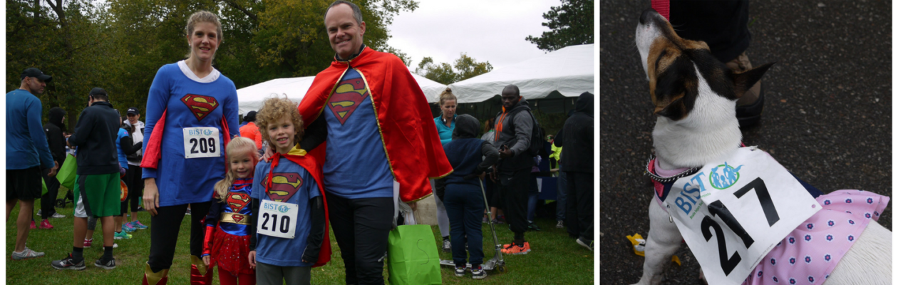 Heroes of brain injury at the 2016 BIST 5k pose for a picture