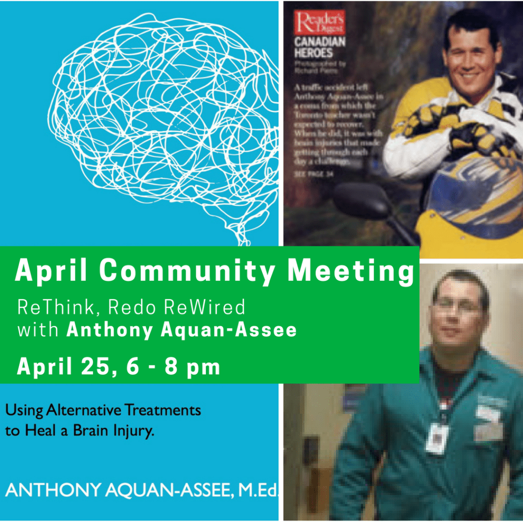 April Community Meeting: April 25, 6-8 pm - Rethink, Redo & Require with Anthony Aquan-Assee