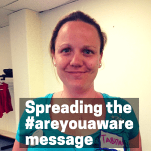 These amazing people are spreading the #areyouaware message to increase awareness about brain injury.